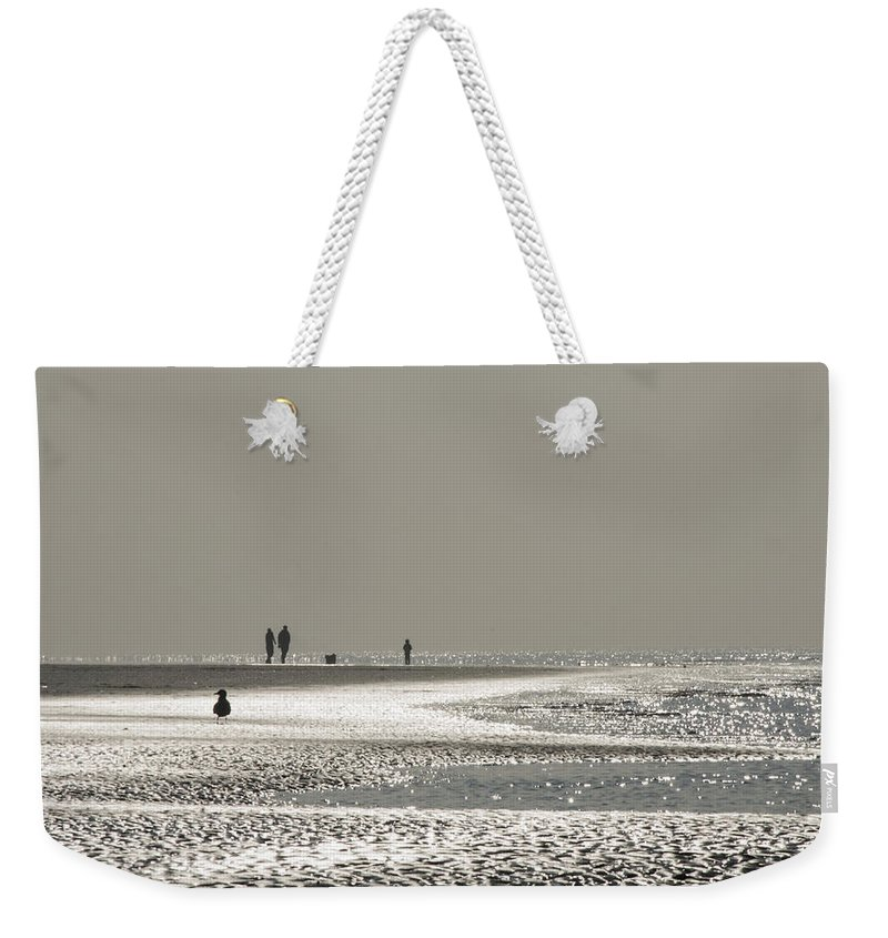 Seaside Weekender Tote Bag featuring the photograph Quick Silver by Spikey Mouse Photography