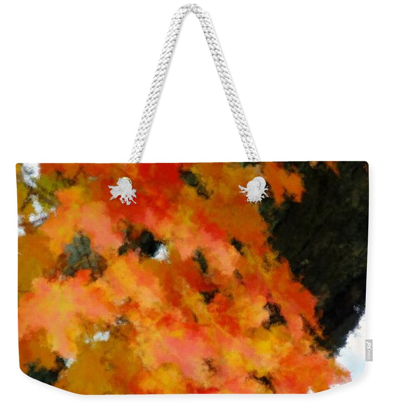 Autumn Weekender Tote Bag featuring the painting Quick Take On Autumn by RC DeWinter