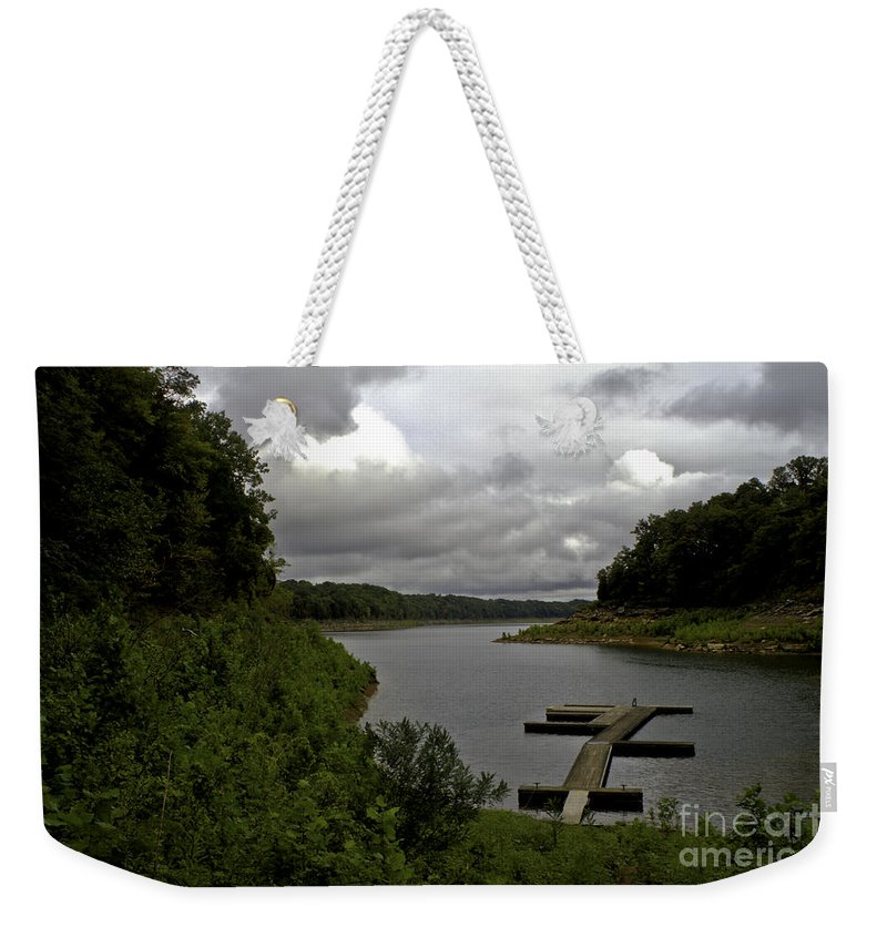 Rural Weekender Tote Bag featuring the photograph Quiet Cove by Ken Frischkorn