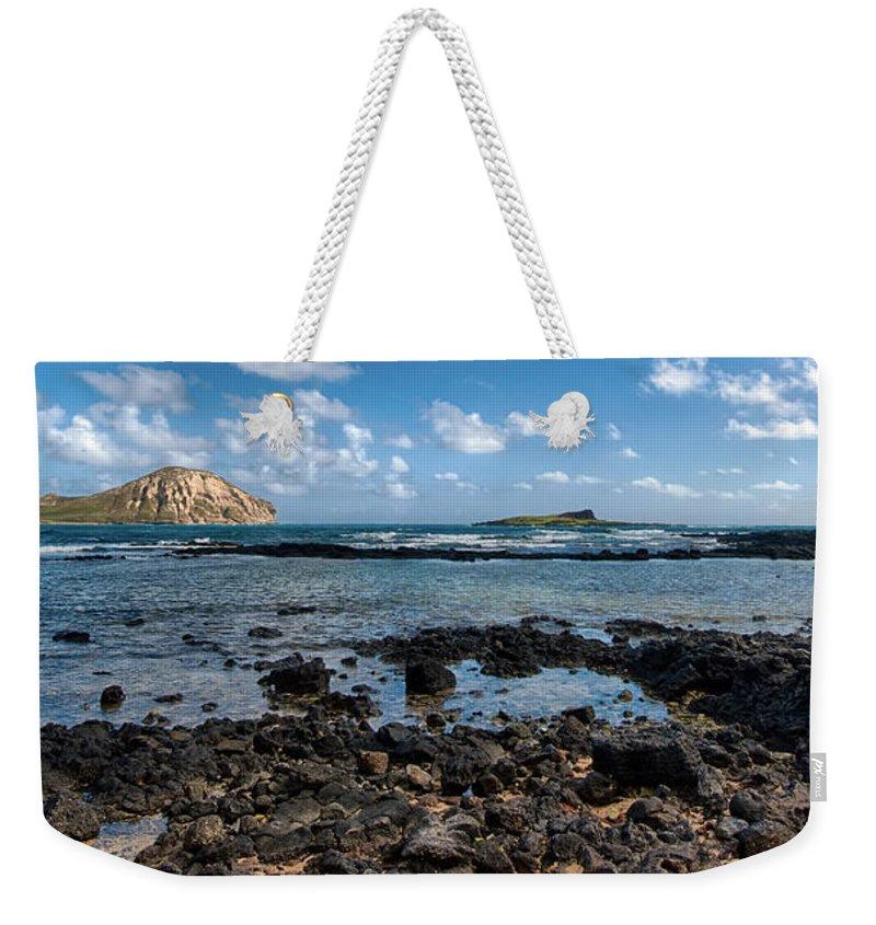 Hawaii Weekender Tote Bag featuring the photograph Rabbit Island Tide Pools by Dan McManus
