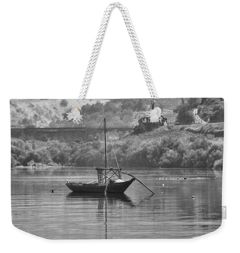 Boat Weekender Tote Bag featuring the photograph Rabelo Boat by Paulo Goncalves