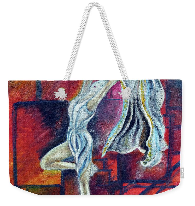 Dance Weekender Tote Bag featuring the painting Radancer by Tom Conway