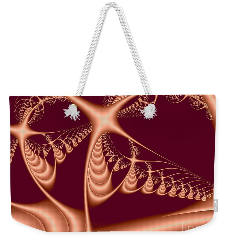 2-dimensional Weekender Tote Bag featuring the digital art Radar by Dana Haynes