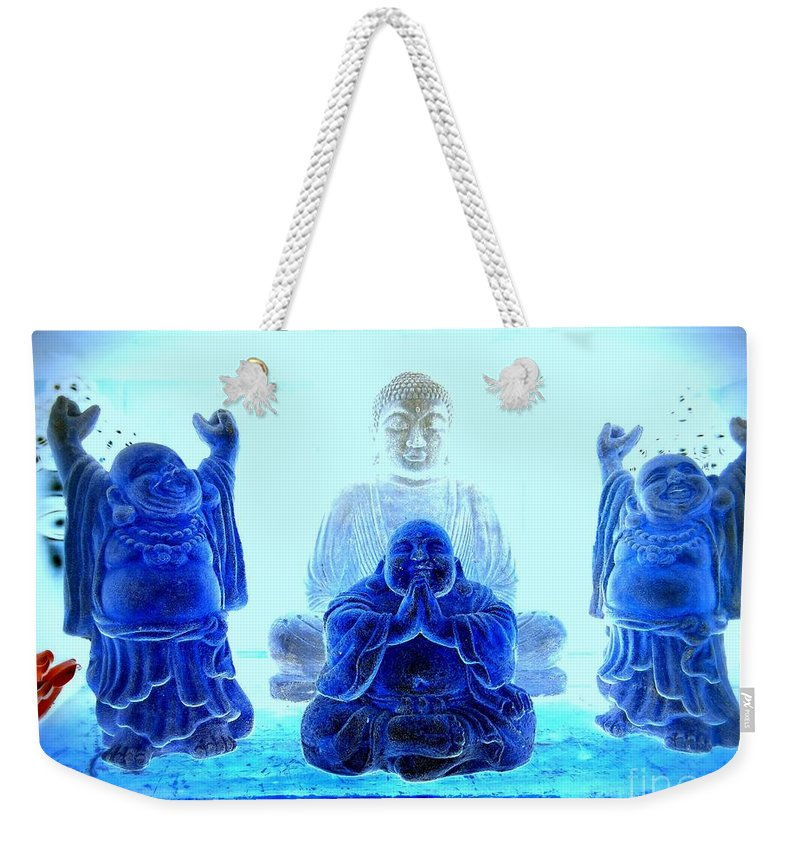 Buddhas Weekender Tote Bag featuring the photograph Radiant Buddhas by Ed Weidman