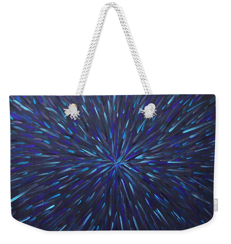 Abstract Weekender Tote Bag featuring the painting Radiation Grey by Dean Triolo