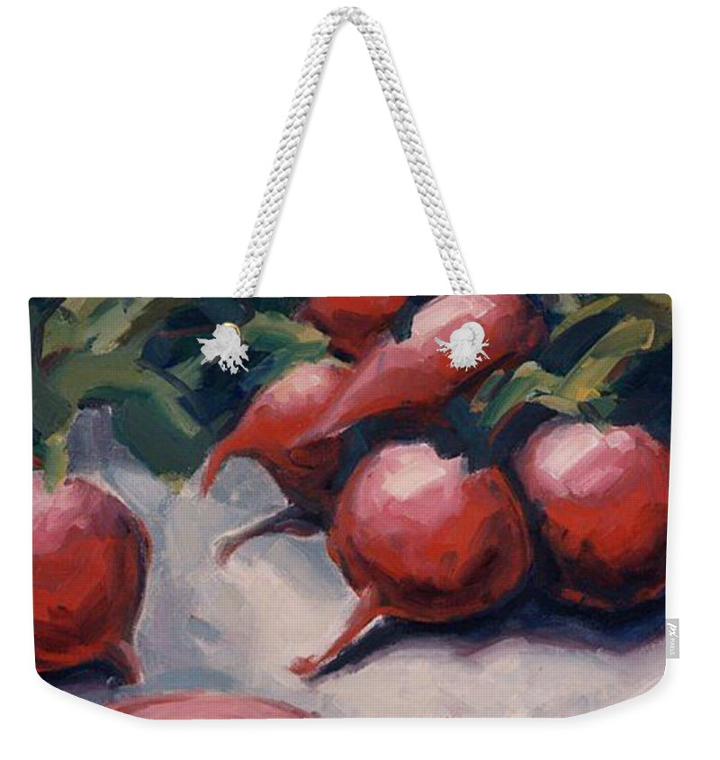 Radishes Weekender Tote Bag featuring the painting Radishes by Konnie Kim