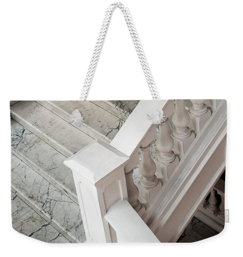 Singapore Weekender Tote Bag featuring the photograph Raffle's Hotel Marble Staircase by Rick Piper Photography