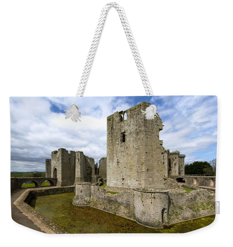 Raglan Weekender Tote Bag featuring the photograph Raglan Castle - 3 by Paul Cannon