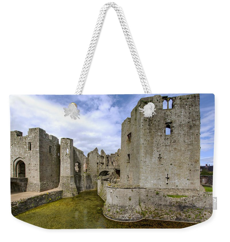 Raglan Weekender Tote Bag featuring the photograph Raglan Castle - 4 by Paul Cannon