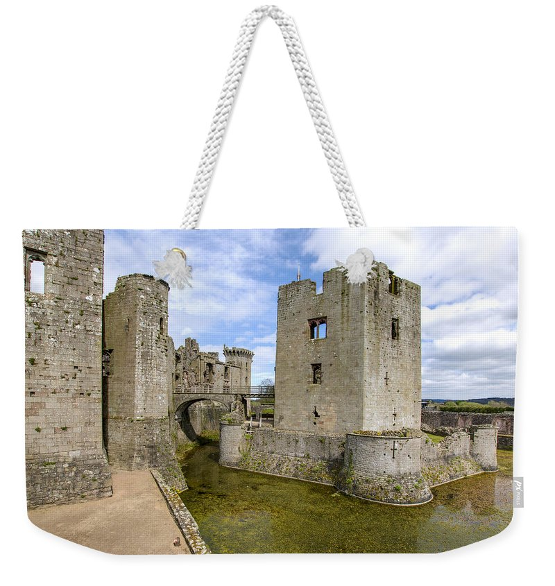 Raglan Weekender Tote Bag featuring the photograph Raglan Castle - 5 by Paul Cannon
