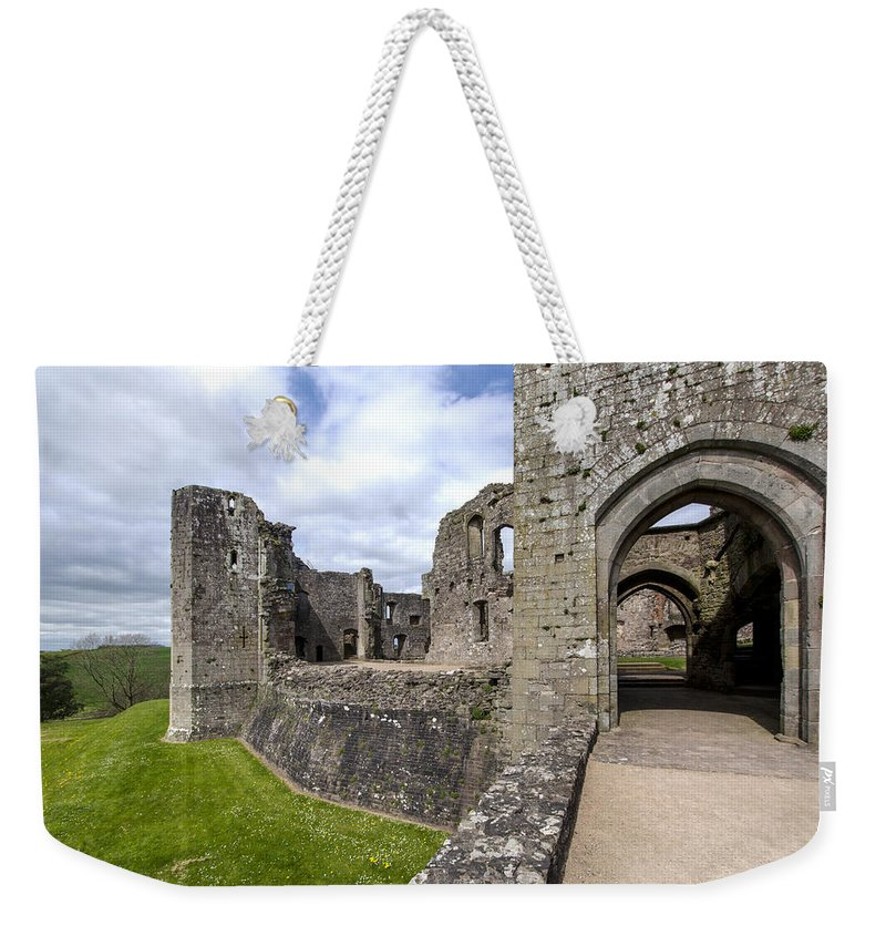 Raglan Weekender Tote Bag featuring the photograph Raglan Castle - 6 by Paul Cannon