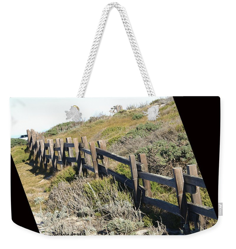 Rail Fence Black Weekender Tote Bag featuring the digital art Rail Fence Black by Barbara Snyder