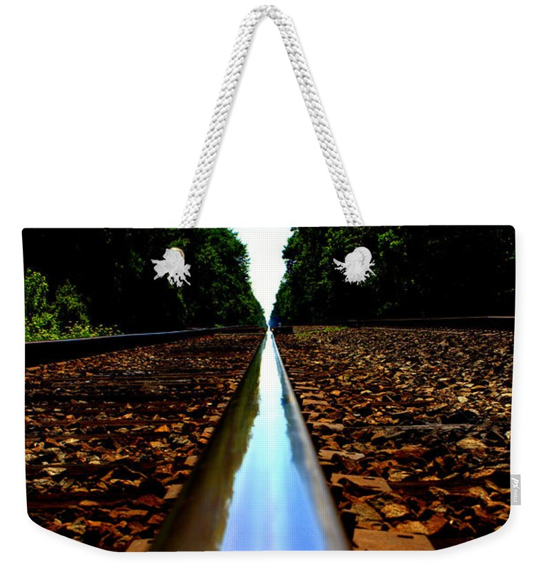 Rail Line Weekender Tote Bag featuring the photograph Rail Line by Shannon Louder