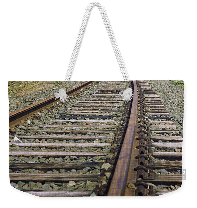 Bridge Weekender Tote Bag featuring the photograph Railroad Bridge by Fran Gallogly