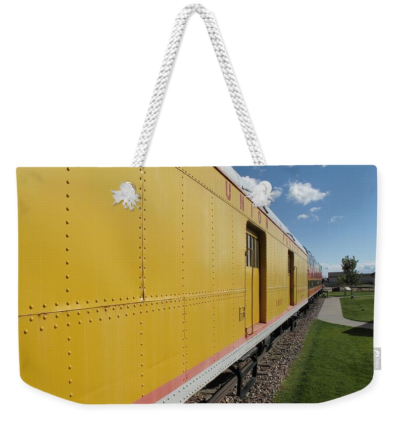 America Weekender Tote Bag featuring the photograph Railroad Train by Frank Romeo