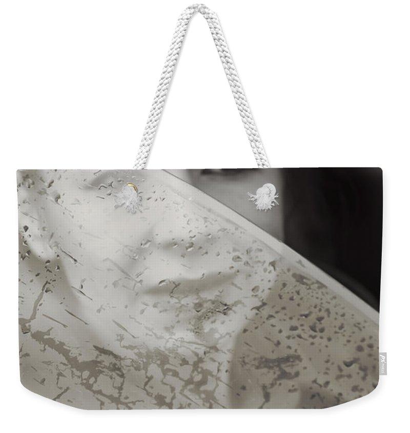 Lena Weekender Tote Bag featuring the photograph Rain Again by Svetlana Sewell