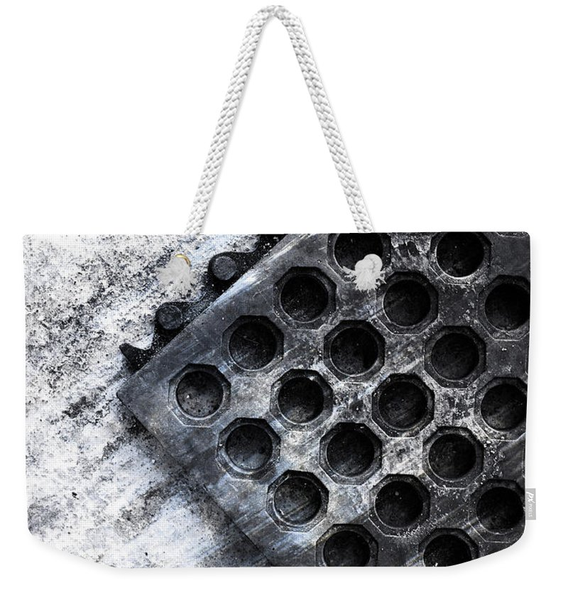 Abstract Weekender Tote Bag featuring the photograph Rain At The Front Door by The Artist Project