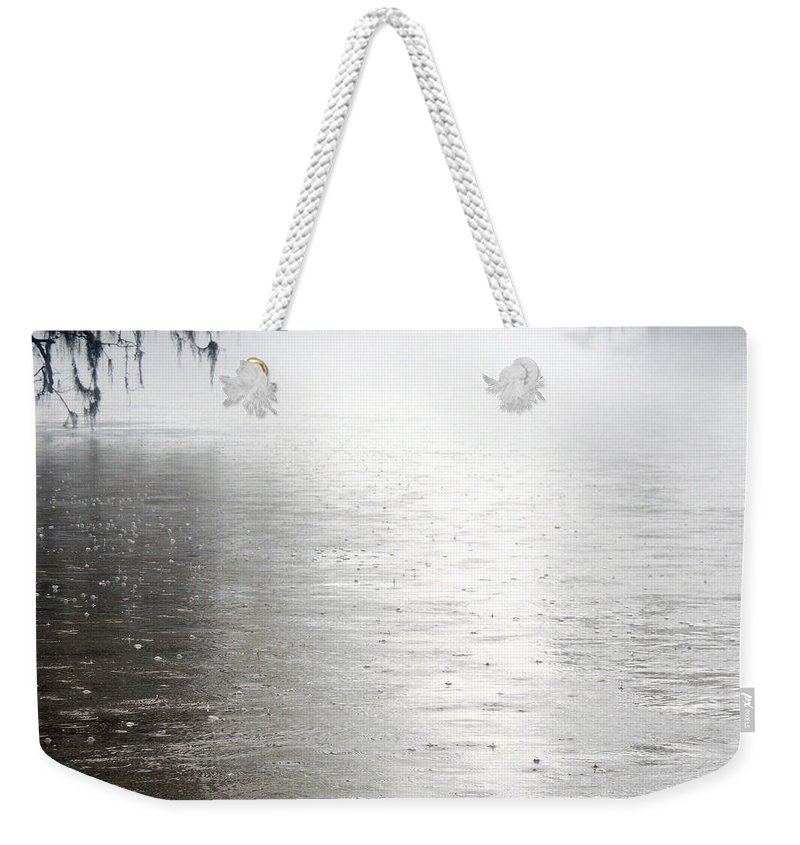 Rising Waters Weekender Tote Bag featuring the photograph Rain On The Flint by Kim Pate