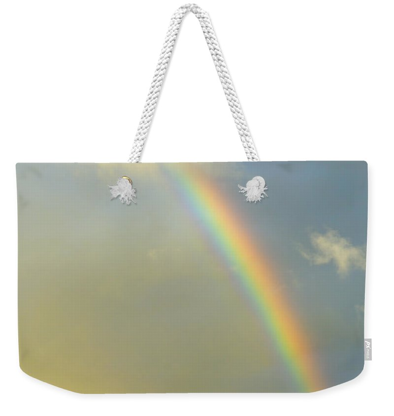 Rainbow Weekender Tote Bag featuring the photograph Rainbow At Sunset by Guido Montanes Castillo