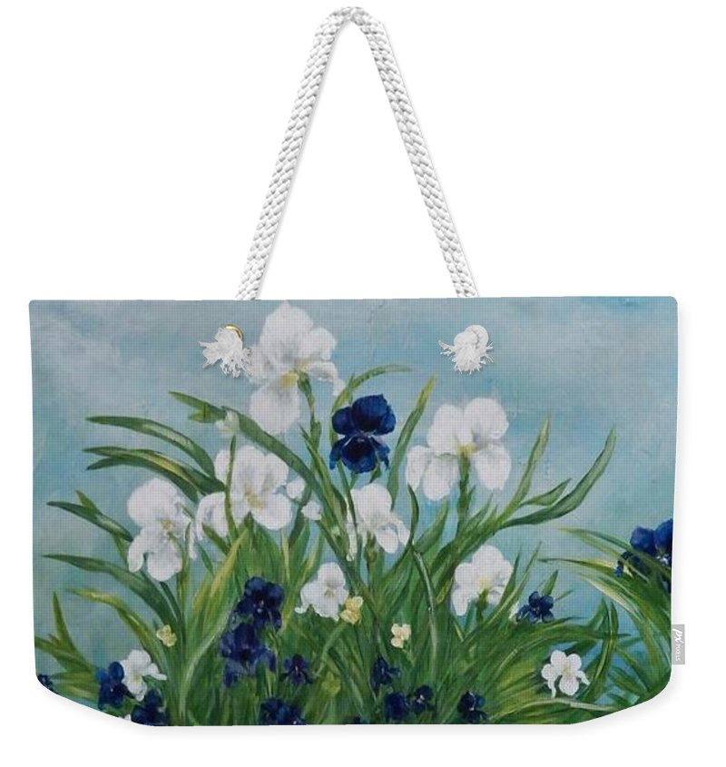 Iris Weekender Tote Bag featuring the painting Rainbow by Graciela Castro