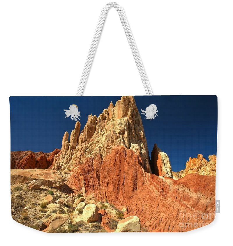 Cottonwood Road Weekender Tote Bag featuring the photograph Rainbow Ridge by Adam Jewell