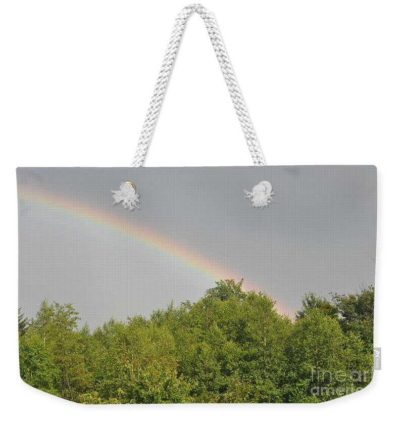 Rainbow Weekender Tote Bag featuring the photograph Rainbow by Sally Rice