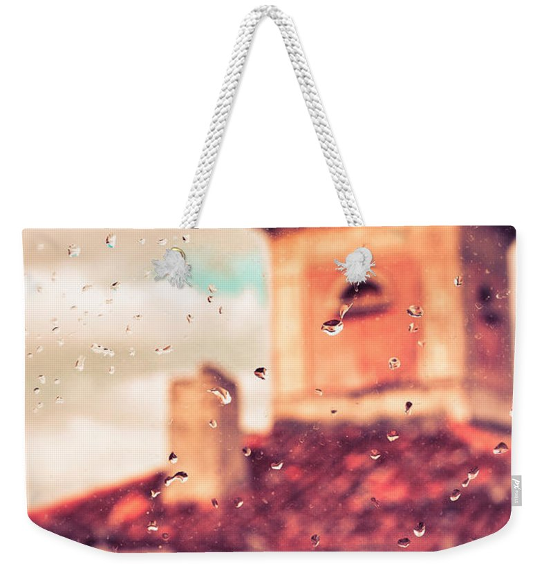 Close Up Weekender Tote Bag featuring the photograph Rainy Day In Italy by Silvia Ganora