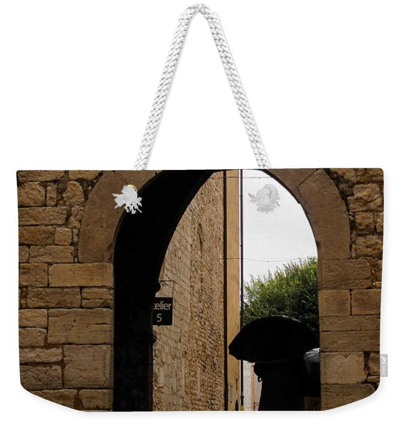 Georgia Mizuleva Weekender Tote Bag featuring the photograph Rainy Day In Provence France by Georgia Mizuleva