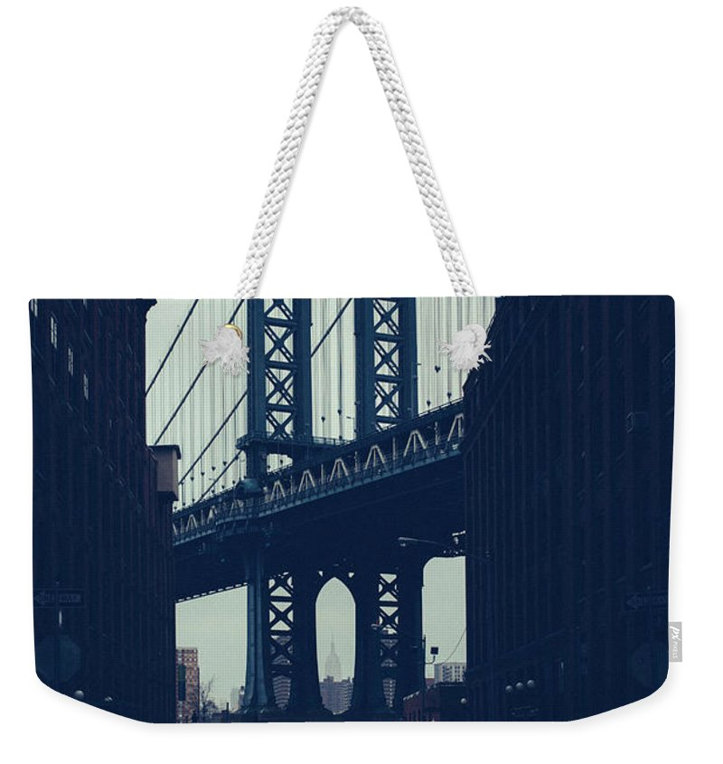 Parking Lot Weekender Tote Bag featuring the photograph Rainy New York City by Ferrantraite