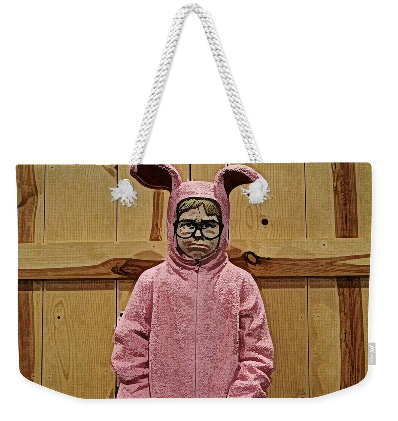 Christmas Story Weekender Tote Bag featuring the photograph Ralphie Of A Christmas Story by Wendy Gertz