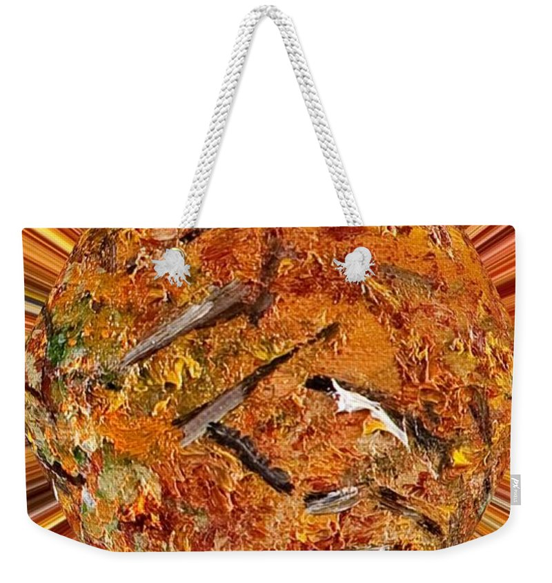 Abstract Weekender Tote Bag featuring the painting Rami by Loredana Messina
