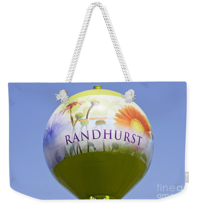 Randhurst Weekender Tote Bag featuring the photograph Randhurst Water Tower by Patty Colabuono