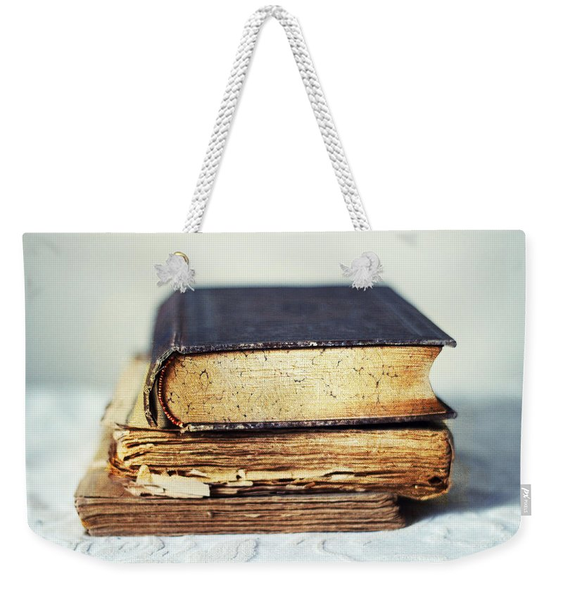 Books Weekender Tote Bag featuring the photograph Rare Books by Jessica Jenney