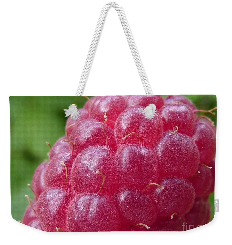 Raspberry Weekender Tote Bag featuring the photograph Raspberry by Rain Shine