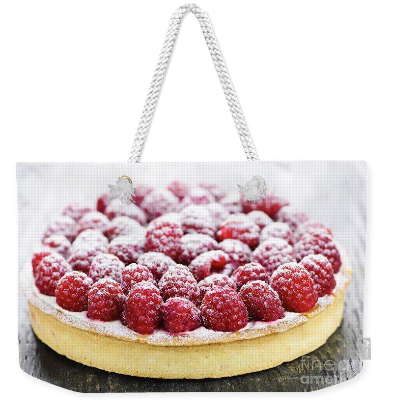 Tart Weekender Tote Bag featuring the photograph Raspberry Tart by Elena Elisseeva