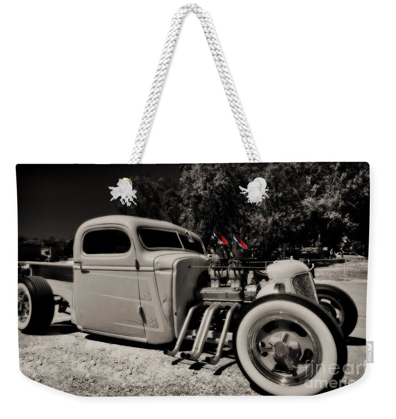 Liane Wright Weekender Tote Bag featuring the photograph Rat Rod by Liane Wright