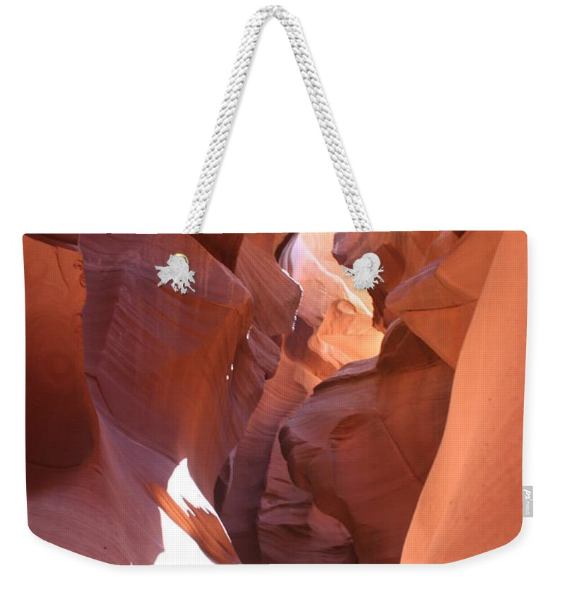 Canyon Weekender Tote Bag featuring the photograph Ravine Walk - Antelope Canyon by Christiane Schulze Art And Photography