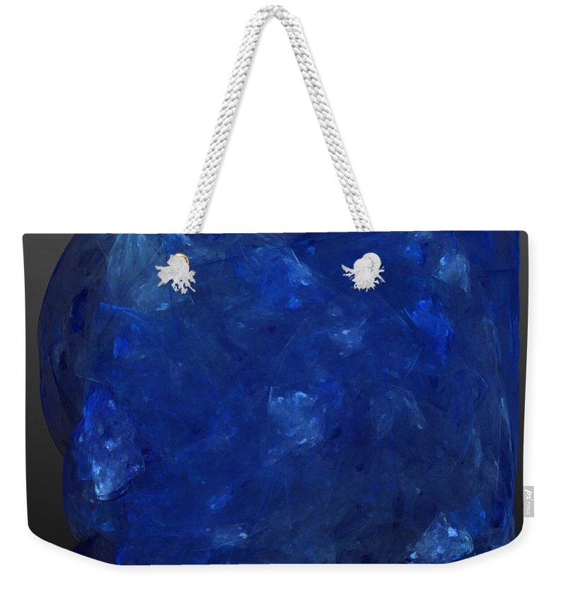Tanzanite Weekender Tote Bag featuring the digital art Raw Tanzanite by Diane Parnell