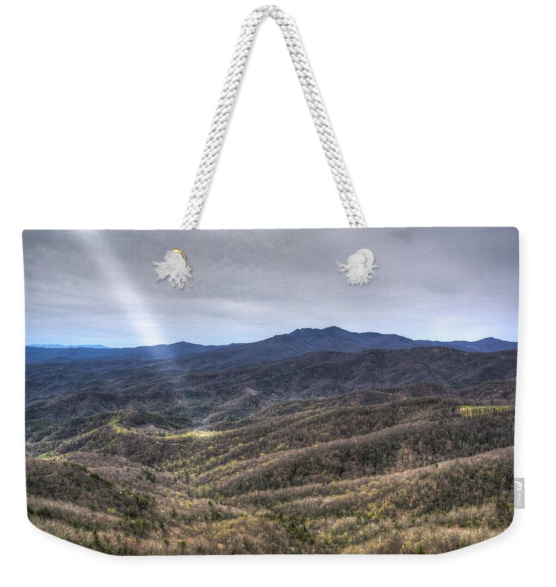 Ray Weekender Tote Bag featuring the photograph Ray Of God by Douglas Barnett