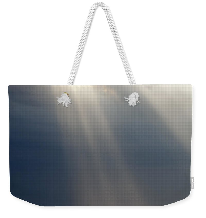 Abstract Weekender Tote Bag featuring the photograph Ray Of Light by Tim Hester