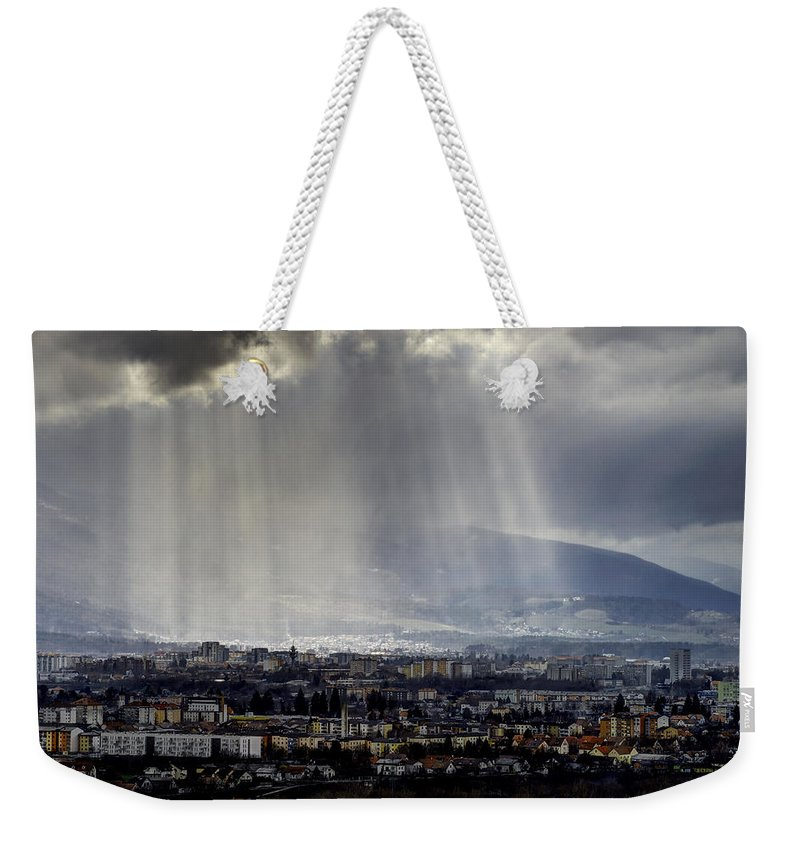 Architecture Weekender Tote Bag featuring the photograph Rays Of Hope by Ivan Slosar