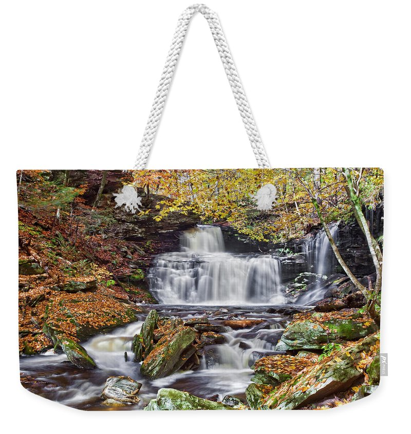 Landscape Weekender Tote Bag featuring the photograph Rb Ricketts Falls by Marcia Colelli