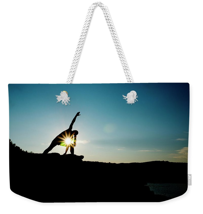 Funky Weekender Tote Bag featuring the photograph Reach For The Sky by Subman
