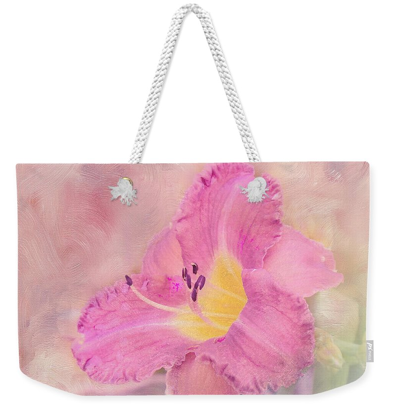 Lily Weekender Tote Bag featuring the photograph Reaching by Betty LaRue
