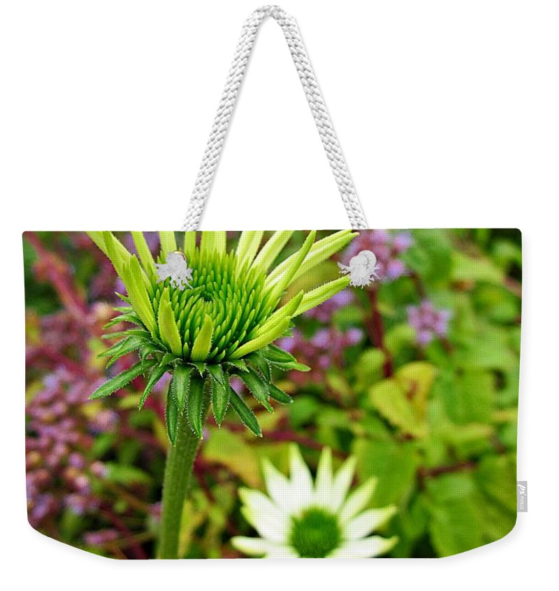 Echinacea Weekender Tote Bag featuring the photograph Reaching Coneflower by MTBobbins Photography