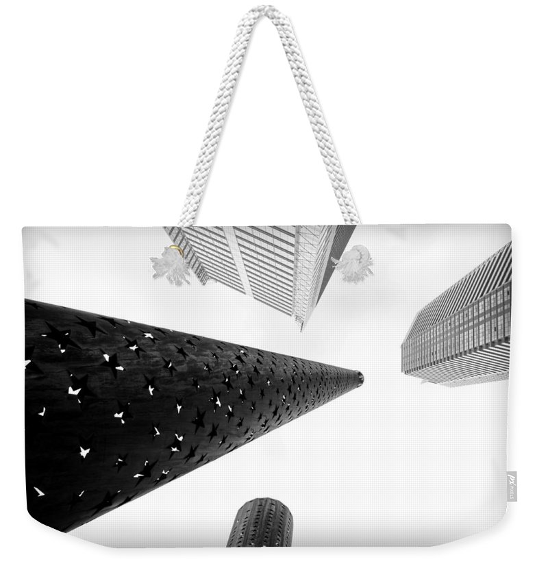 Reach Weekender Tote Bag featuring the photograph Reaching For The Sky by Valentino Visentini