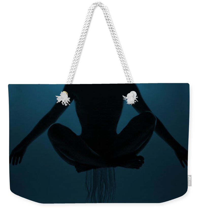 Festblues Weekender Tote Bag featuring the photograph Reaching Nirvana.. by Nina Stavlund