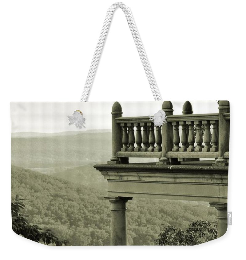 Landscape Weekender Tote Bag featuring the photograph Reading Pagoda by Valoree Skiles