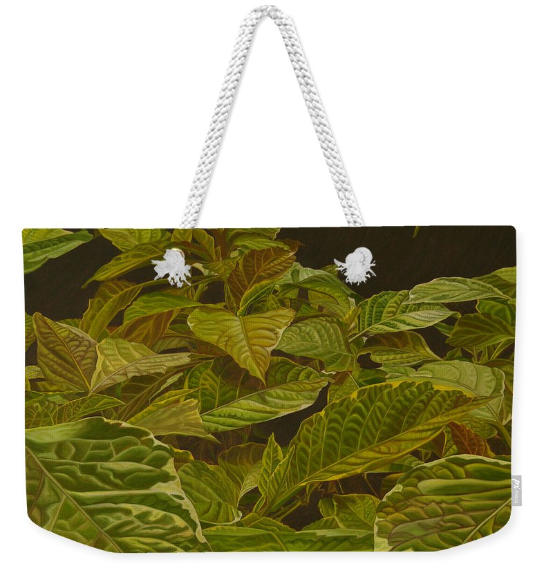 Plant Weekender Tote Bag featuring the painting Ready For Spring by Thu Nguyen