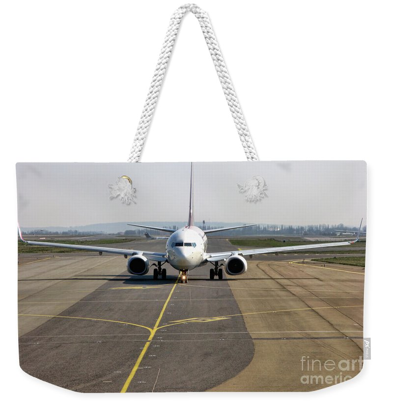 Plane Weekender Tote Bag featuring the photograph Ready For Take Off by Olivier Le Queinec